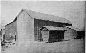 Barns located at the western end of Duboistown, on property that Christian Haist oversaw.