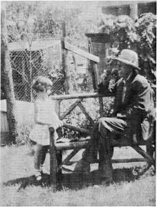 June Laurenson and her grandfather, Christian Haist About 1935