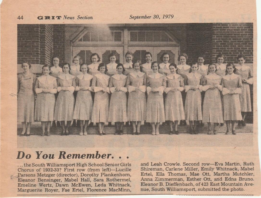 S.W. H.S. Chorus 1932-33