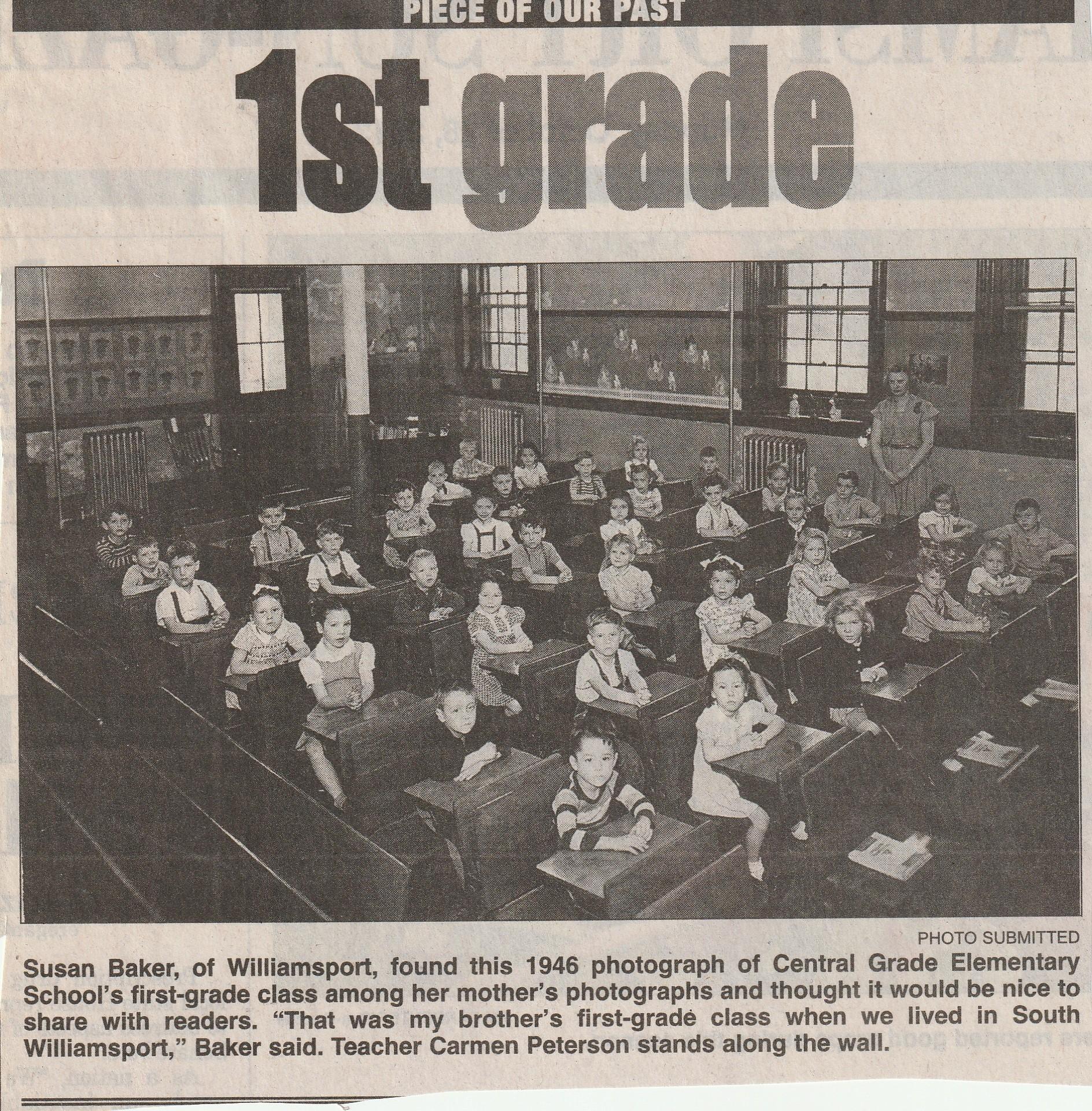 1946 Central Grade Elementary School first grade.