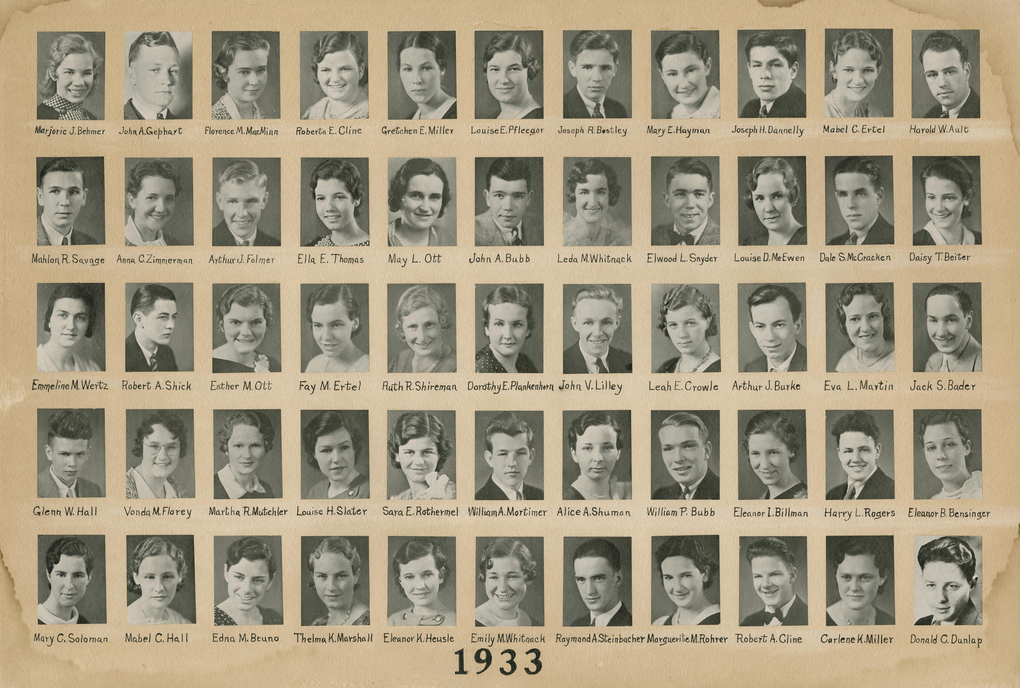 Class of 1933