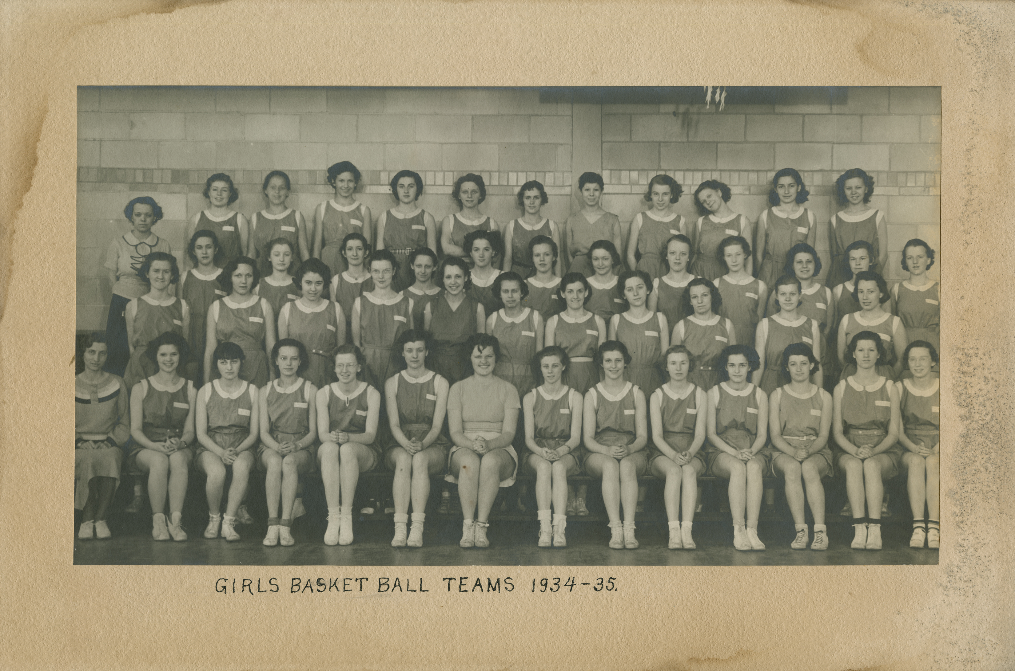 Girls Basketball Teams 1934-35